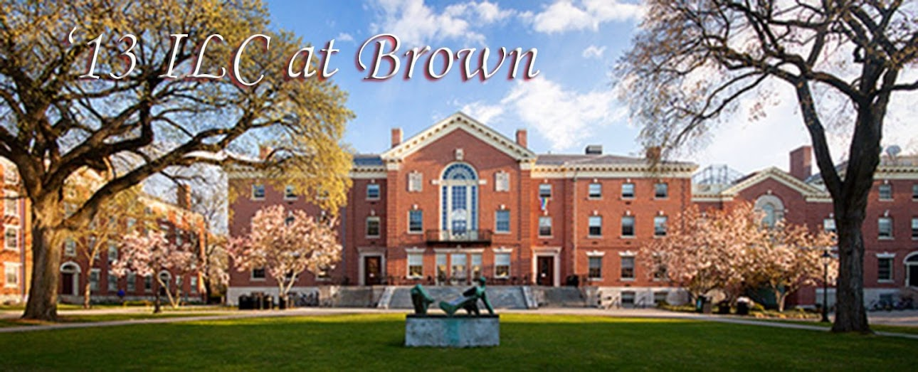 '13 ILC at Brown