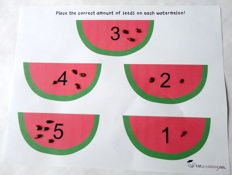 Watermelon Seed Fine Motor Activities