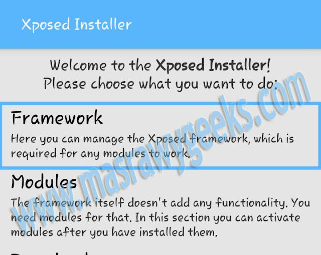 how to install xposed framework on android