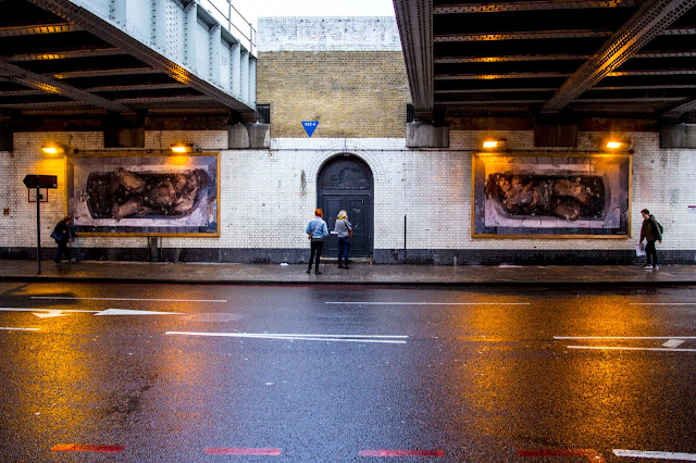 """Adam & Eva"" New Street Art Pieces By Spanish Artist Borondo On Old Street, East London. 4"