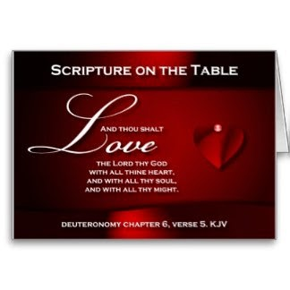 Scripture on the Table Greeting Card