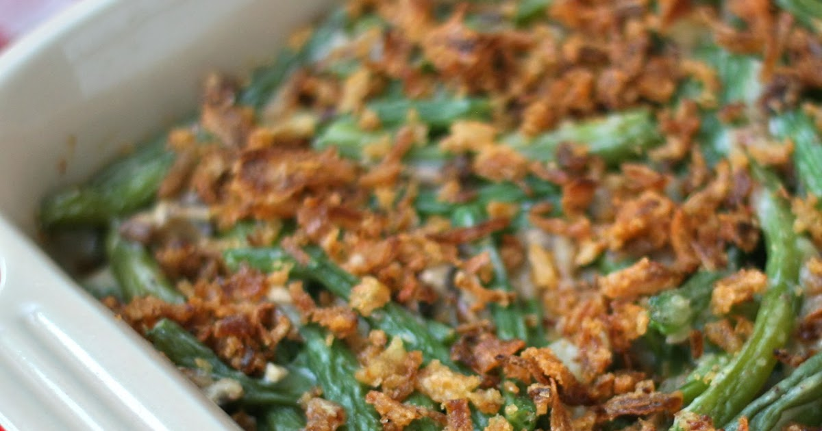 G is for: Green Bean Casserole {with homemade ingredients}
