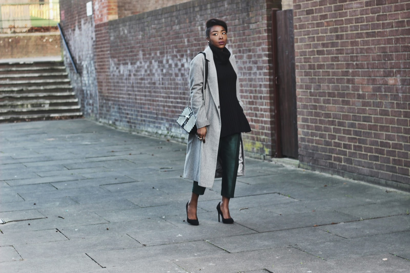 ASOS over sized grey wool blend coat