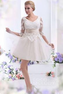 http://www.cocomelody.com/a-line-champagne-short-mini-v-neck-tulle-wedding-dress-cwlk13002.html