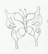 Desenho de borboleta para imprimir e pintar