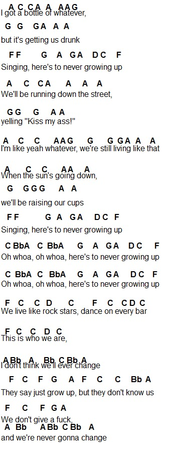 Flute Sheet Music Heres To Never Growing Up