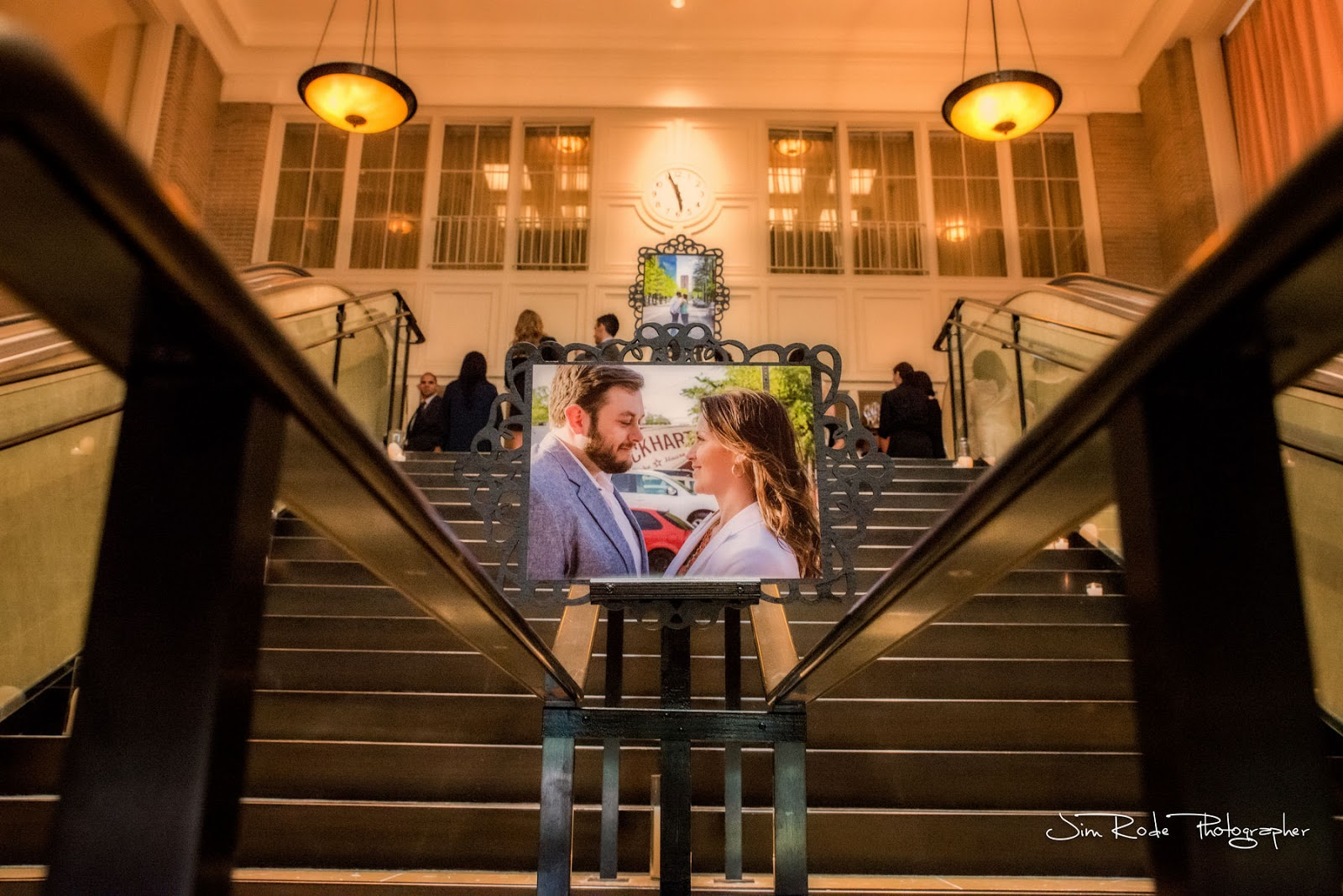 We arranged a series of photos on the staircase for the wedding