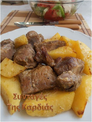 Χοιρινό με πατάτες στην γάστρα