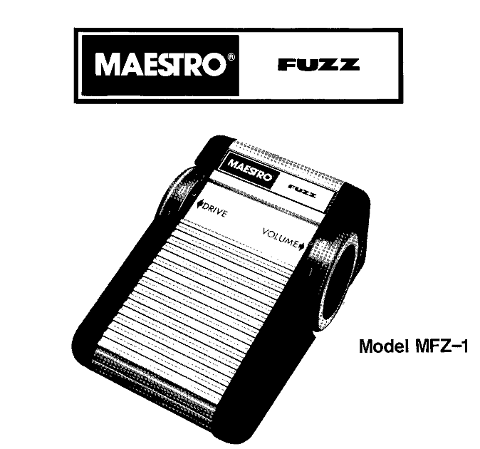 guitar fx layouts  maestro mfz