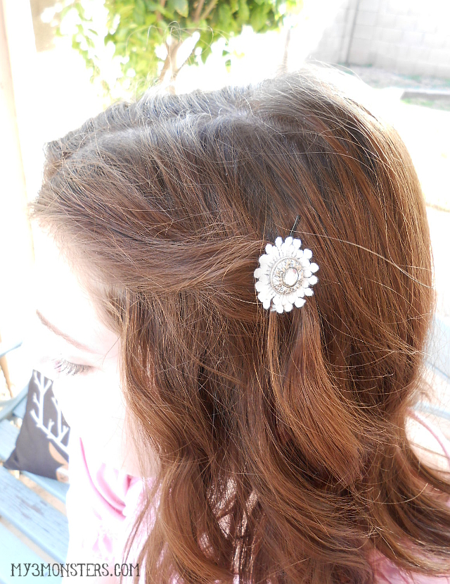 Easy DIY Lace Hair accessories at my3monsters.com