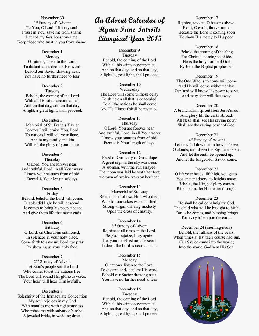 Free Advent Calendar For 2015 | Calendar Template 2016