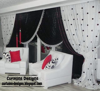 White Curtains black and white curtains for living room : Black and White curtains, Top 10 designs of black and white curtains
