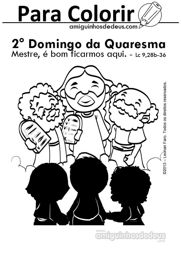 evangelho do segundo II domingo da quaresma desenho