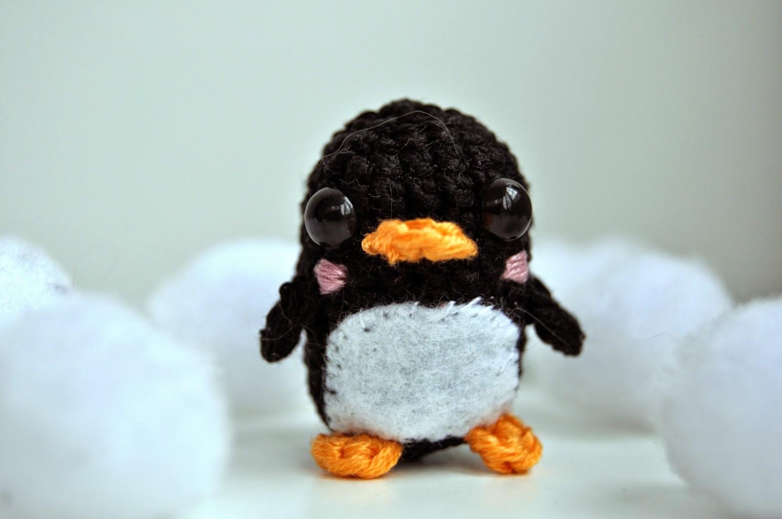 Crochet y Cantar: Patrón: mini pingüino