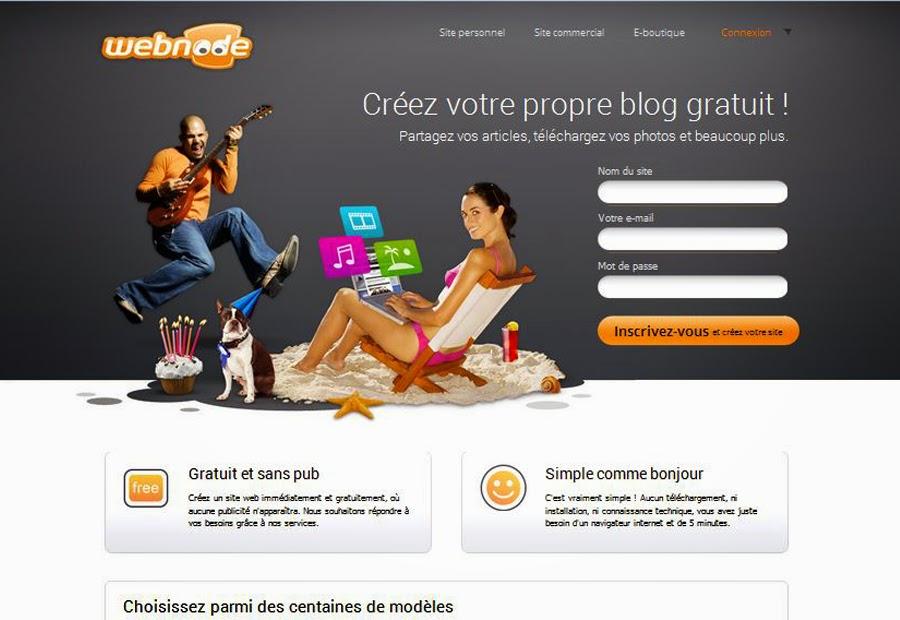 Créer un blog gratuit sans compétences informatiques avec Webnode.