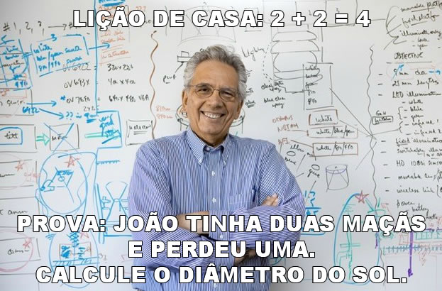 Meme do professor sacana
