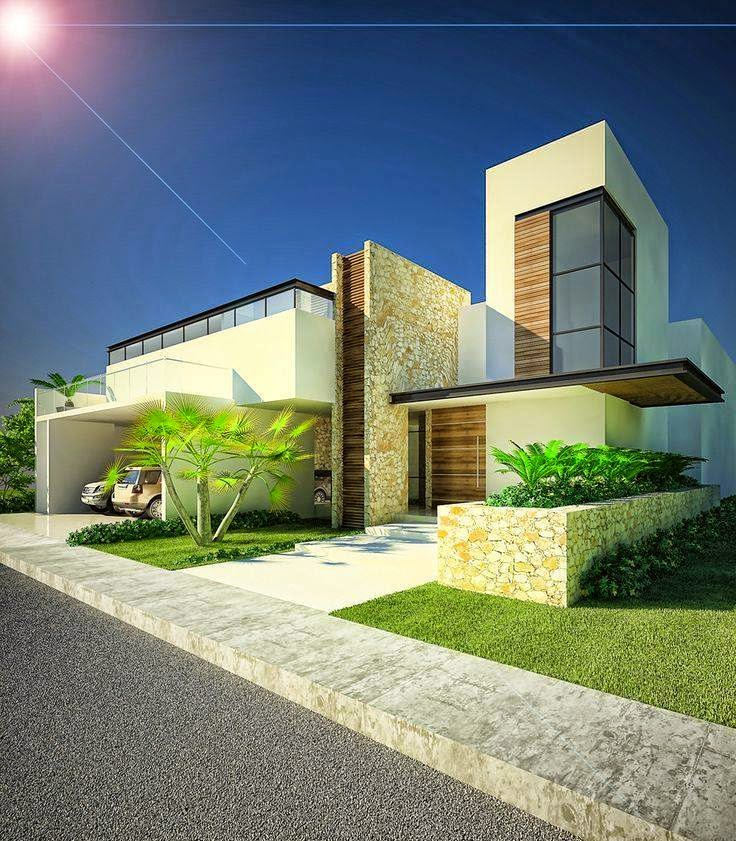 Construindo minha casa clean 30 fachadas de casas - Exteriores de casas modernas ...