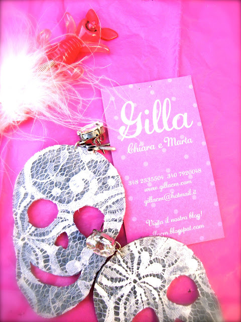 GILLA, ACCESSORIES, BIJOUX, NEW ACCESSORIES BRAND, COLORED BIJOUX, SKULLS, LACE EARRINGS, AMANDA MARZOLINI FASHION BLOGGER, THE FASHIONAMY