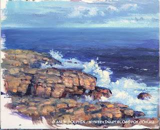 Torndirrup, the Gap, seascape oil painting by Andy Dolphin.