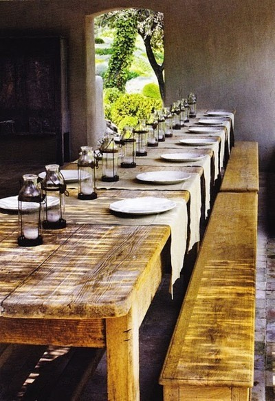 Dining Room Decor And Design Rustic Picnic Table Dining Room Via