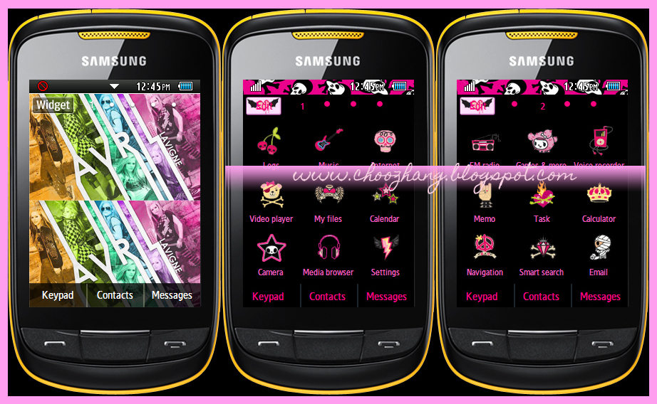 Samsung Corby 2 or S3850 - Avril Lavigne + Punk Rock Themes
