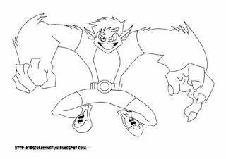 Teen Titans Beast Boy Fantasy Coloring Pages Go Coloring Pages Beast Boy Free