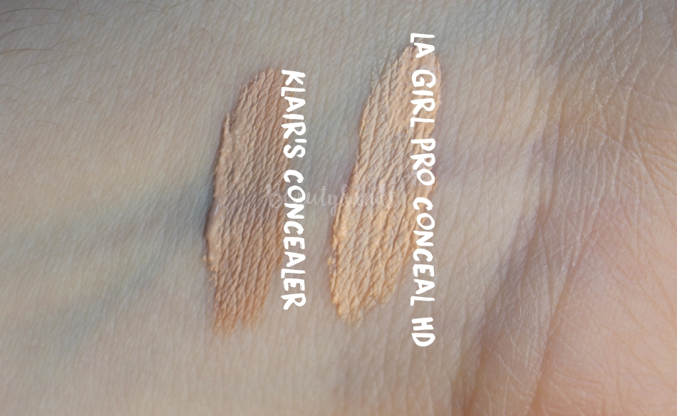 Klair's concealer comparison