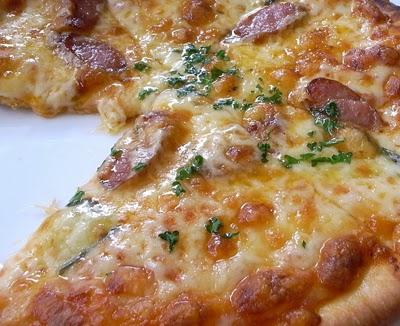 Пицца со сметаной фото