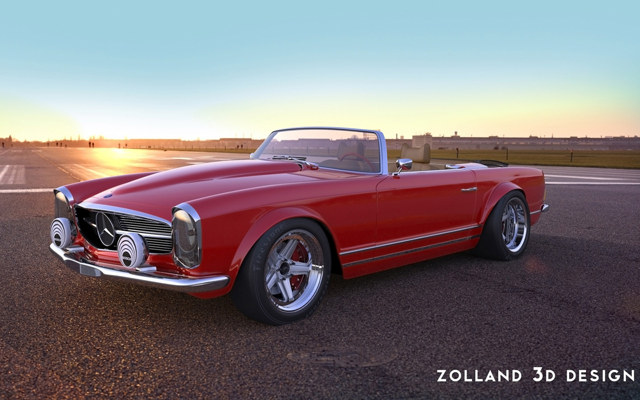 2015 zolland design mercedes benz 230sl for Mercedes benz design