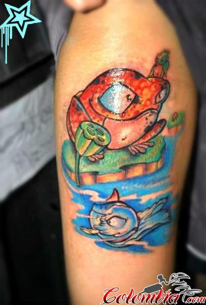 Sapo New School Tattoo