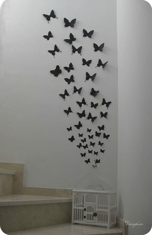 Mi pared favorita 39 12 mariposas de papel de gemma for Ideas creativas para decorar el hogar