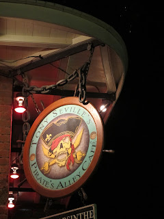 Pirate's Alley Cafe sign