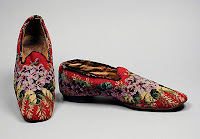 Needlepoint Slippers, 1850-1900