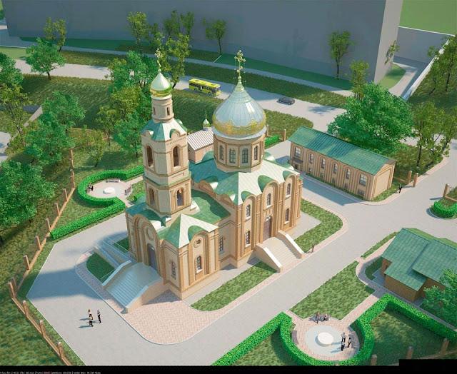 Проект храма Сергия Радонежского во Владивостоке.