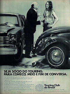 propaganda Touring Club do Brasil - 1973, brazilian advertising cars in the 70s; os anos 70; história da década de 70; Brazil in the 70s; propaganda carros anos 70; Oswaldo Hernandez;
