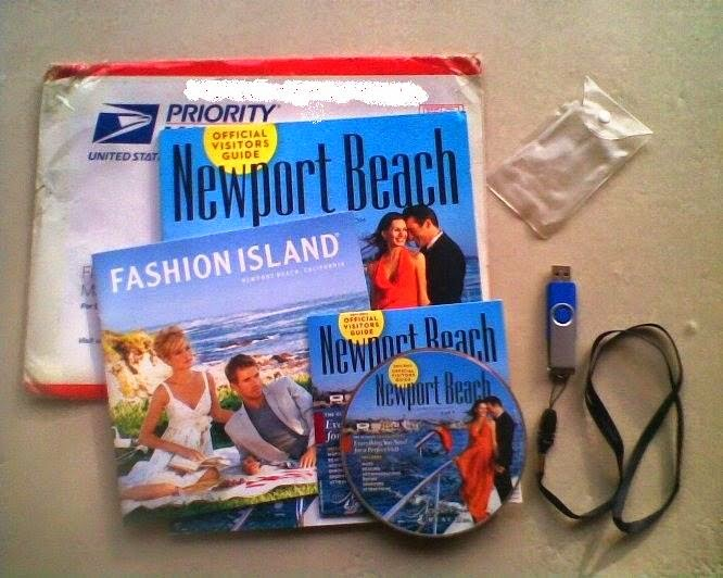 Clé USB Gratuite de Newport Beach Visitor