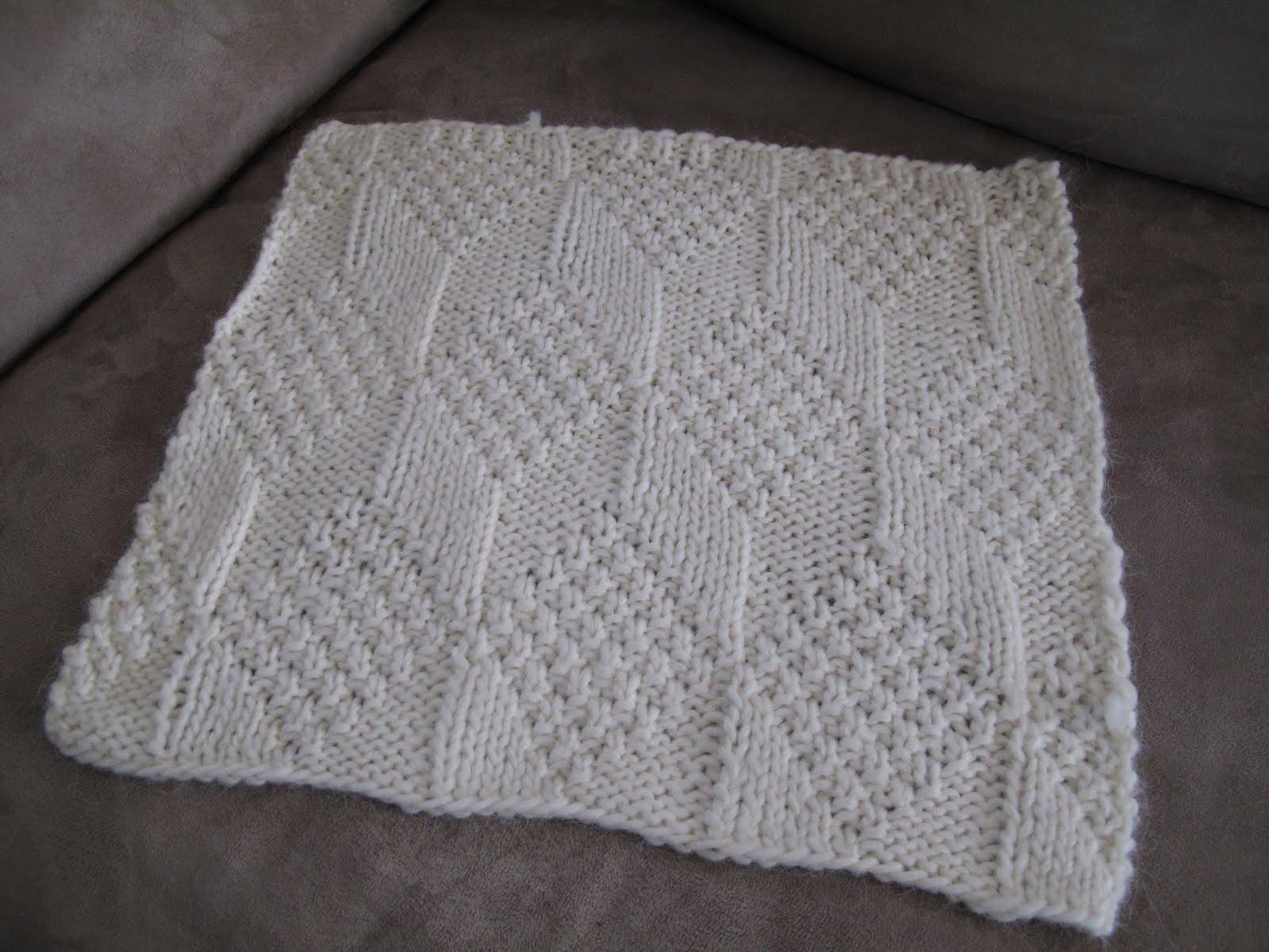 Libby Grant Knits: Moss Diamond Blanket