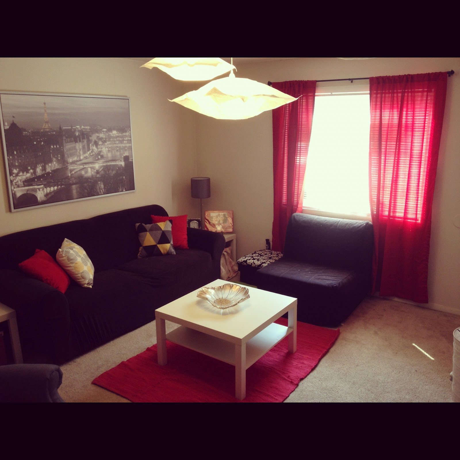 Red black and grey living room - Grey and black living room pictures ...