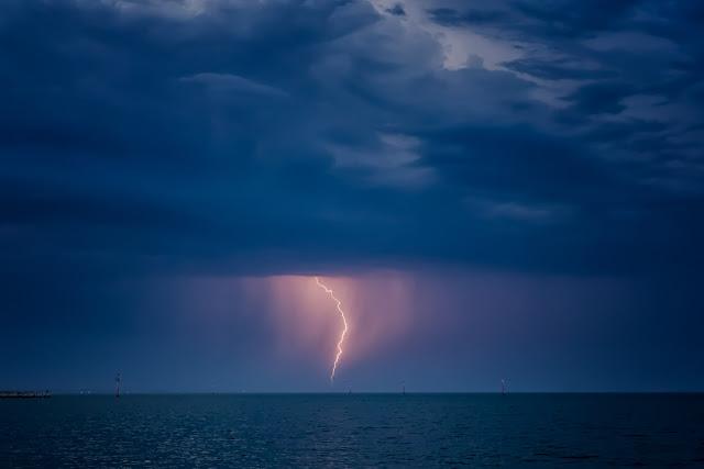 lightning over port philip bay