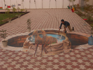 3D street painting India's Got Talent, 3D chalk painting IGT, 3D painting IGT India's Got Talent, 3D street Artist India's Got Talent