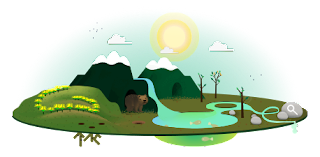 Google doodle celebrating Earth Day