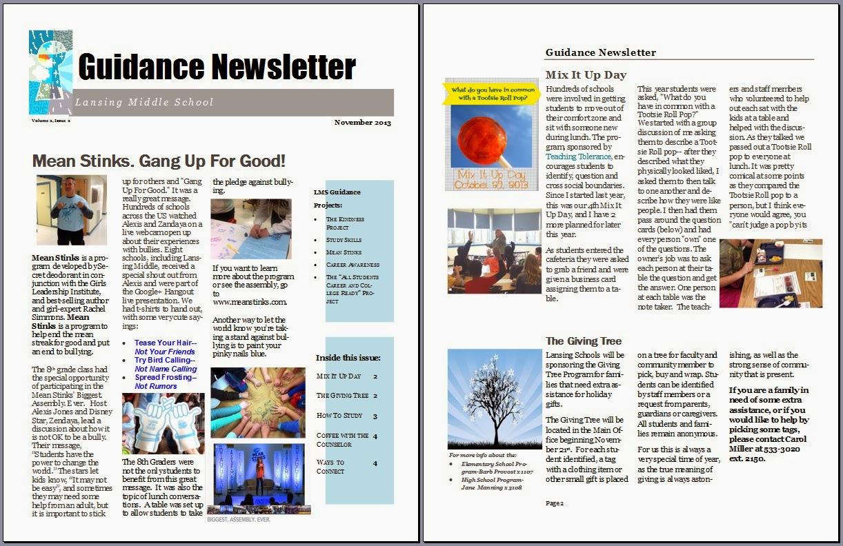 middle school book report brochure