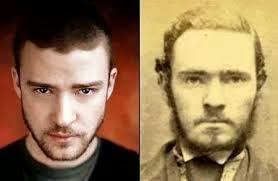 Justin Timberlake And Old School Mug Shot