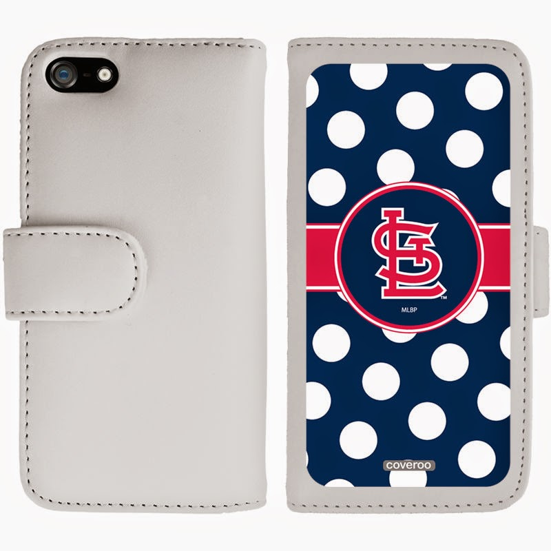 St. Louis Cardinals MLB Polka Dot iPhone 5/5s Folio Wallet Case