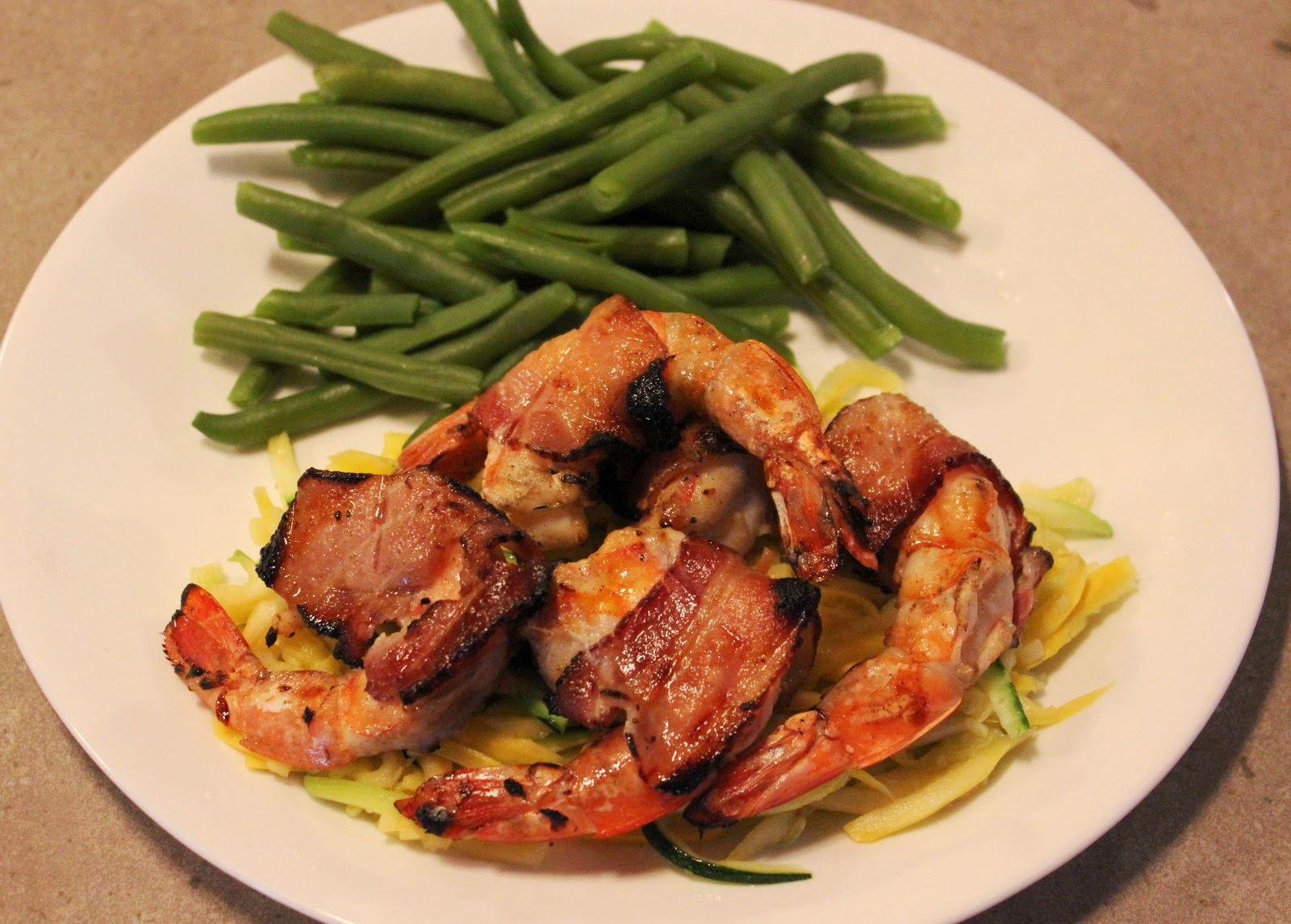 ... Travels: Paleo Grilled Shrimp and Bacon with Gingered Squash Spaghetti