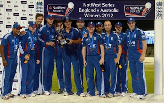 England Won Natwest Series Trophy 2012