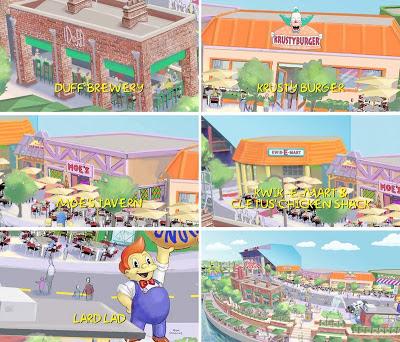 Zonas parque temático Los Simpson
