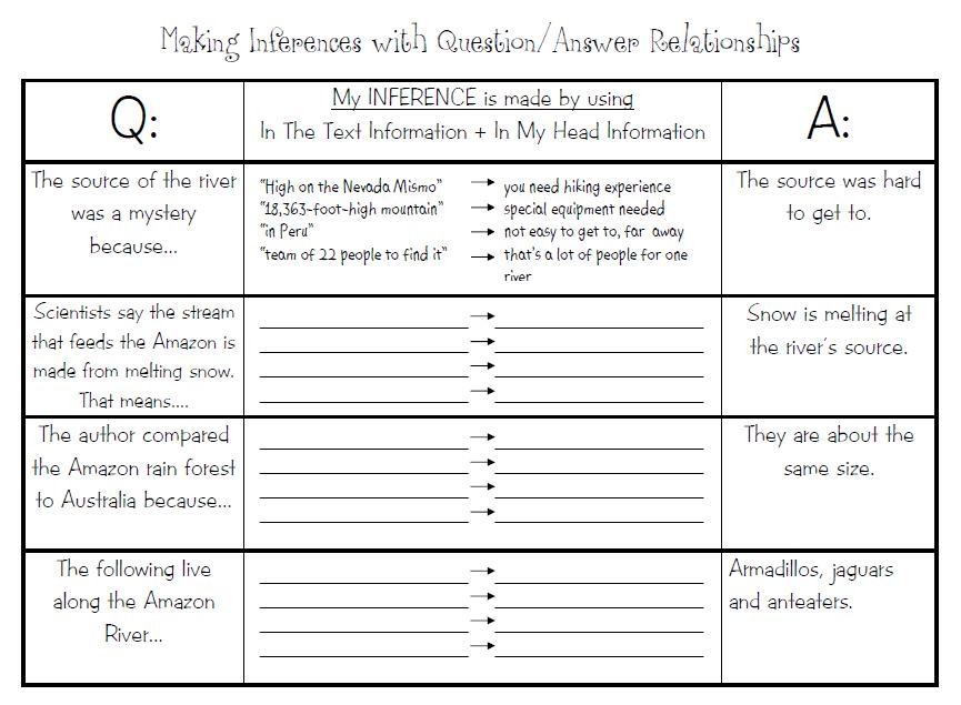 inferencing worksheets grade 4