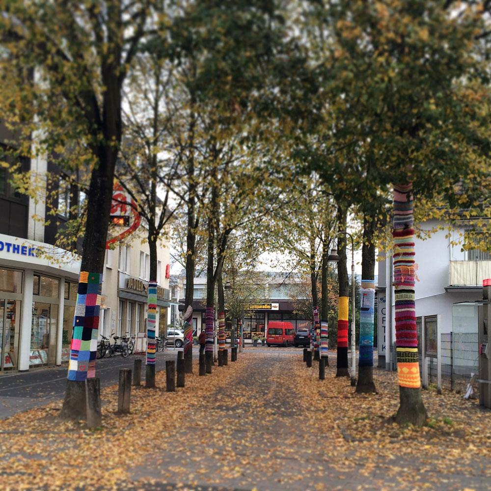 Уличное вязание в Хеннефе