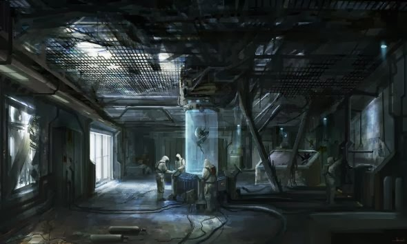 Christian Quinot cloudminedesign deviantart dark illustrations science fiction